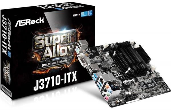 Компактная материнская плата ASRock J3710-ITX несет на борту чип Intel Braswell