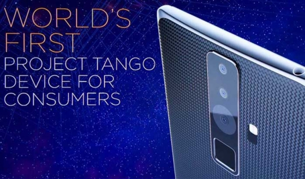 Смартфон Lenovo Project Tango получит экран формата 2K